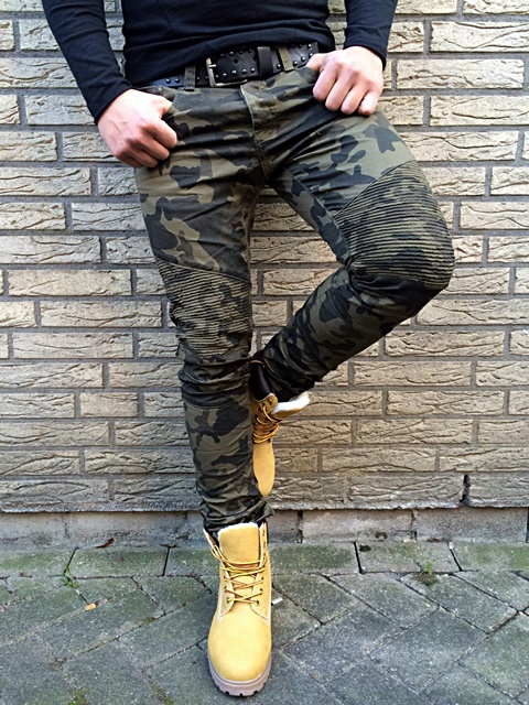 biker camouflage ghetto street herren skinny army nato. Black Bedroom Furniture Sets. Home Design Ideas