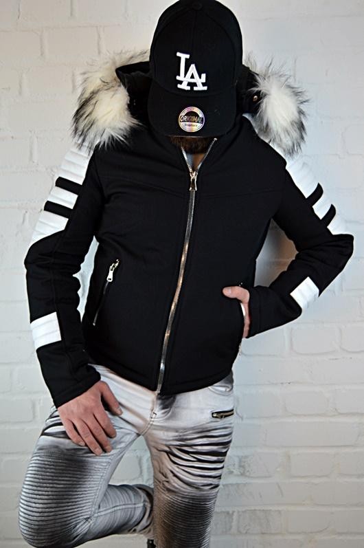 SPECIAL Biker Moda Grande Inverno Rocker FASHION Cappotto Giacca Uomo Russian Style